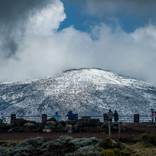Neige au volcan en novembre 2006